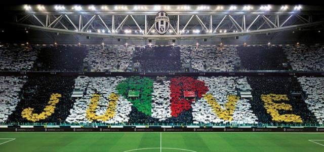 Coreografia allo Juventus Stadium
