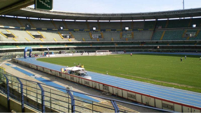 Lo Stadio Bentegodi di Verona