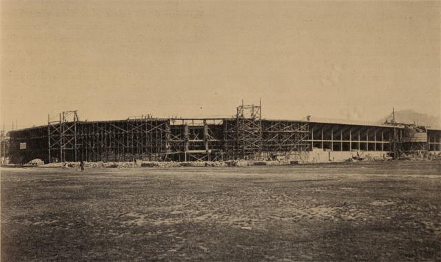 Lo Stadio Franchi in costruzione