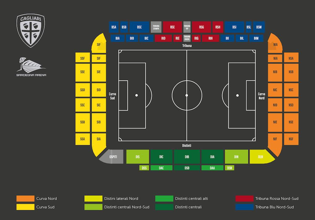 Mappa Sardegna Arena